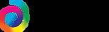 colour Horizontal logo black text clear