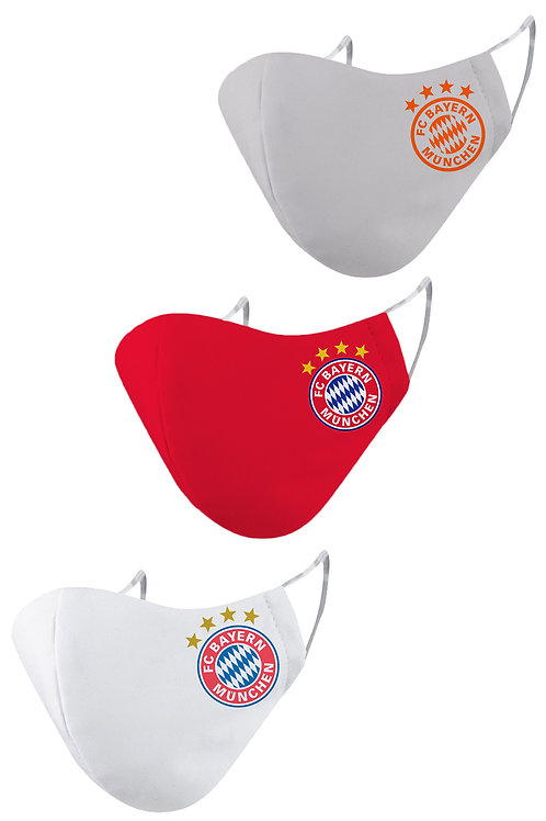 ESSENTIELE FC BAYERN O/H/A 20/21 2PLY REUSABLE FACE MASK (PACK OF 3)
