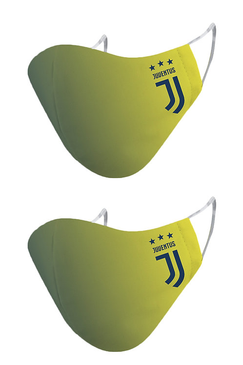 ESSENTIELE JUVENTUS GOAL KEEPER KIT 20/21 2PLY REUSABLE FACE MASK (PACK OF 2)