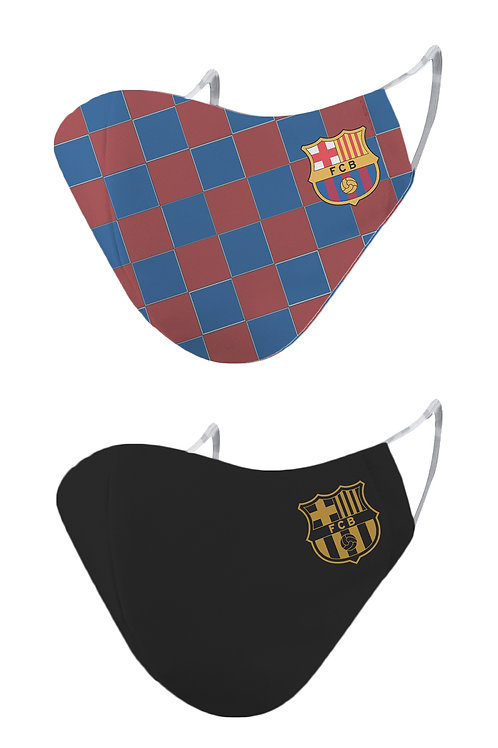 ESSENTIELE FC BARCELONA H/A KIT 20/21 2PLY REUSABLE FACE MASK (PACK OF 2)
