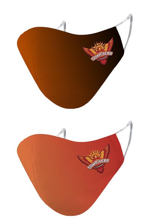 ESSENTIELE SUNRISERS HYDERABAD SRH Cloth Mask  (Free Size, Pack of 2)