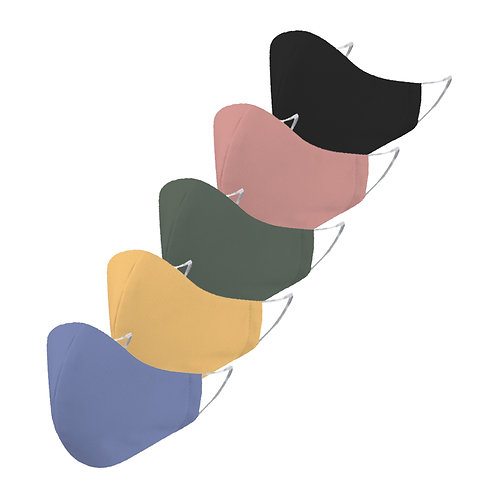 ESSENTIELE SOLID COLOR FACE MASK(PACK OF 5)