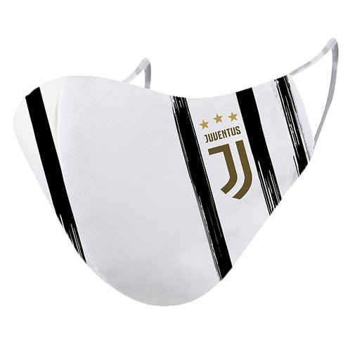 ESSENTIELE JUVENTUS HOME 20/21 2PLY REUSABLE FACE MASK (PACK OF 1)