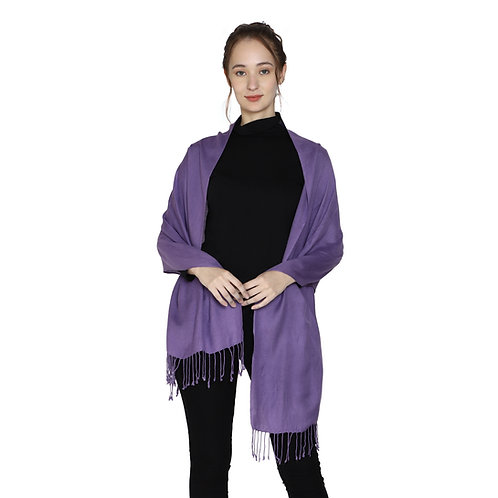 ESSENTIELE SOLID COLORED LAVENDER VISCOSE SILK SCARF STOLE