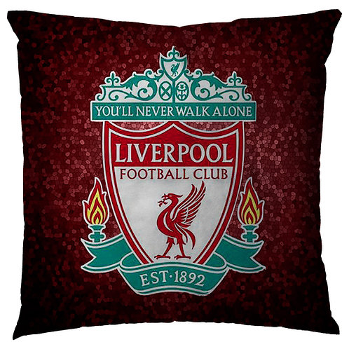 ESSENTIELE Liverpool FC Cushion Cover (16X16 INCHES)