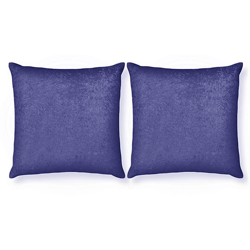 ESSENTIELE Velvet Cushion Cover 16X16 INCHES (Indigo Blue/Navy Blue) Pack of 2