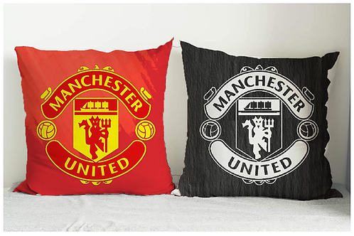 ESSENTIELE MANCHESTER UNITED FC CUSHION COVER 16*16 INCHES (SET OF 2)