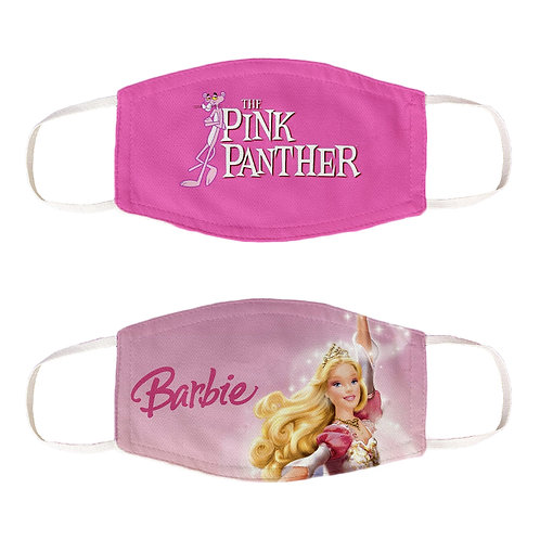 ESSENTIELE BARBIE, PINK PANTHER Nonwoven Fabric FACE MASK  (PACK OF 2)
