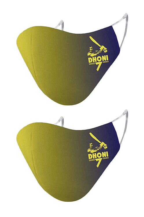 ESSENTIELE IPL MS Dhoni Edition Cloth Mask  (Yellow, Free Size, Pack of 2)