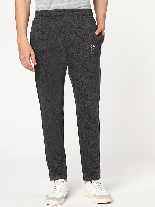 ESSENTIELE ANTHRA GREY PREMIUM PIMA COTTON TRACK PANTS JOGGERS