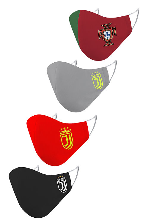 ESSENTIELE JUVENTUS - PORTUGAL CR7 EDITION REUSABLE FACE MASK(PACK OF 4)