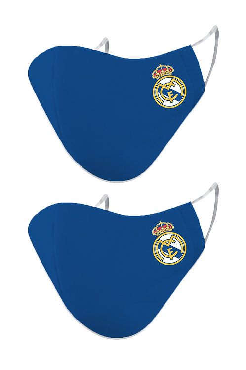 ESSENTIELE REAL MADRID OLD  2PLY REUSABLE FACE MASK (PACK OF 2)