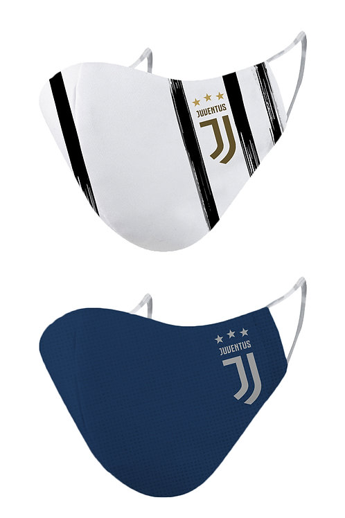 ESSENTIELE JUVENTUS H/A 20/21 2PLY REUSABLE FACE MASK (PACK OF 2)