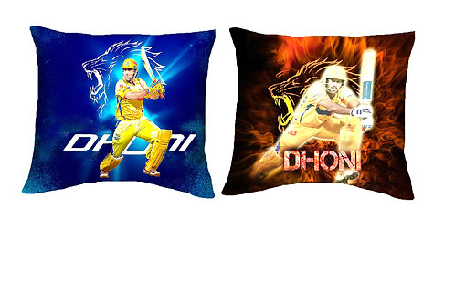 ESSENTIELE MS DHONI EDITION CUSHION COVER (16*16 INCHES) SET OF 2
