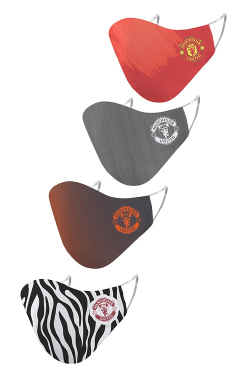ESSENTIELE MANCHESTER UNITED HATG KIT 20/21 2PLY REUSABLE FACE MASK (PACK OF 4)