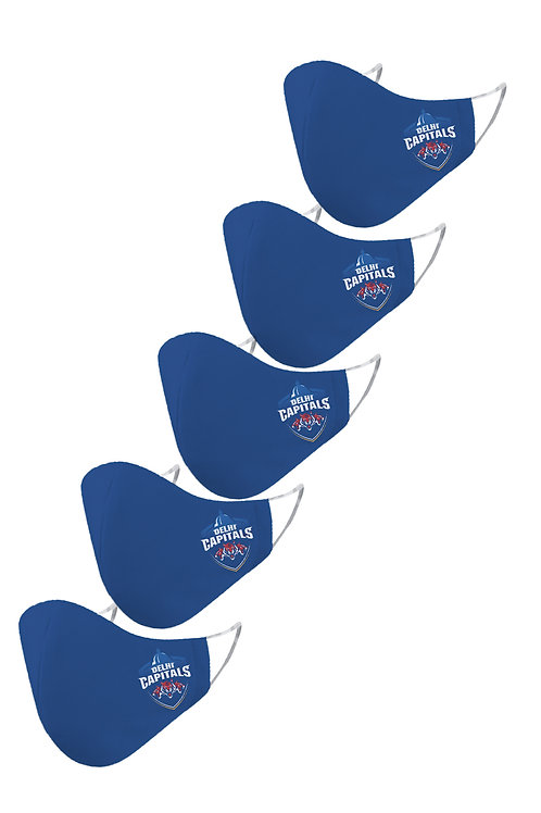 ESSENTIELE IPL DELHI CAPITALS Cloth Mask  (Blue, Free Size, Pack of 5)