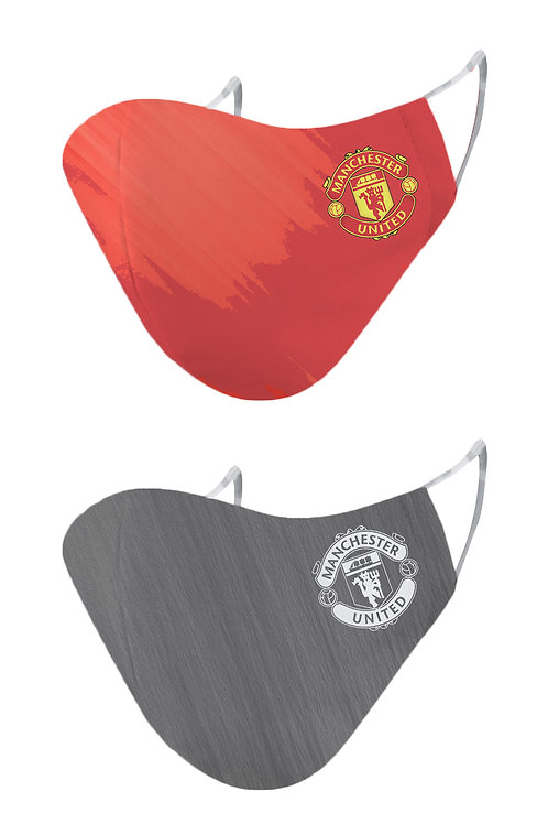 ESSENTIELE MANCHESTER UNITED H/A KIT 20/21 2PLY REUSABLE FACE MASK (PACK OF 2)