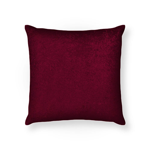 ESSENTIELE Velvet Cushion Cover 16X16 INCHES (Wine/Maroon) Pack of 1