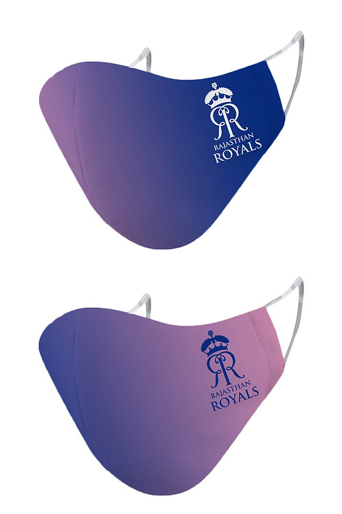 ESSENTIELE RAJASTHAN ROYALS RR Cloth Mask  (Free Size, Pack of 2)
