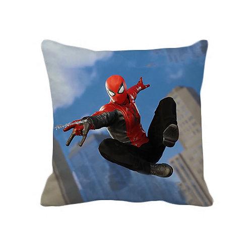ESSENTIELE Kids Spiderman Cushion Cover (16X16 INCHES)