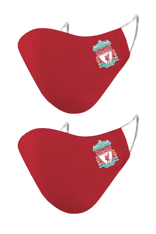ESSENTIELE  LIVERPOOL FC OLD 2PLY REUSABLE FACE MASK (PACK OF 2)