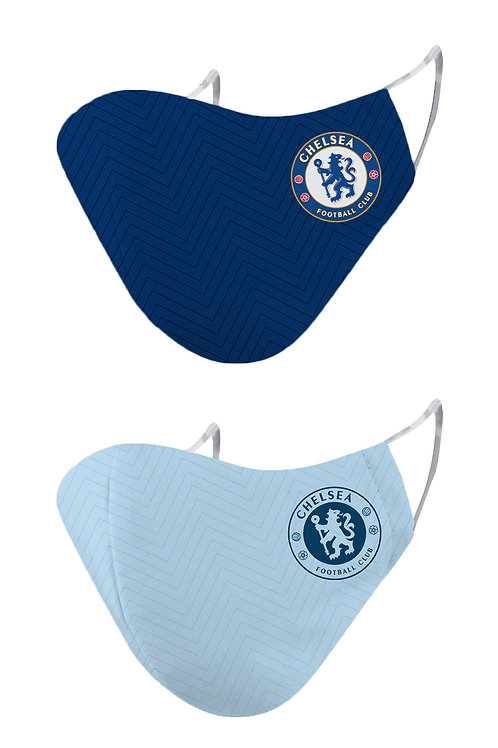 ESSENTIELE CHELSEA FC H/A 20/21 2PLY REUSABLE FACE MASK (PACK OF 2)