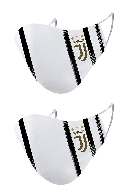 ESSENTIELE JUVENTUS HOME KIT 20/21 2PLY REUSABLE FACE MASK (PACK OF 2)