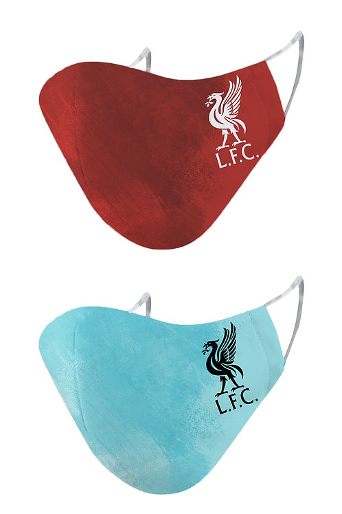 ESSENTIELE LIVERPOOL FC H/A 20/21 2PLY REUSABLE FACE MASK (PACK OF 2)