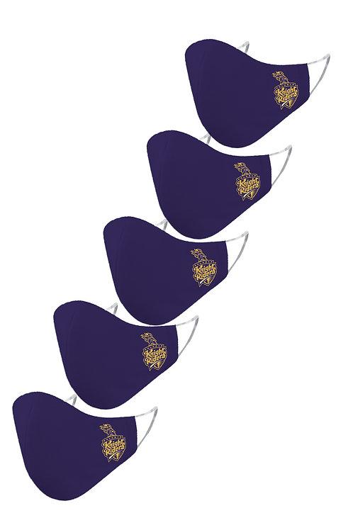 ESSENTIELE IPL KOLKATA KNIGHT RIDERS Cloth Mask  (Blue, Free Size, Pack of 5)