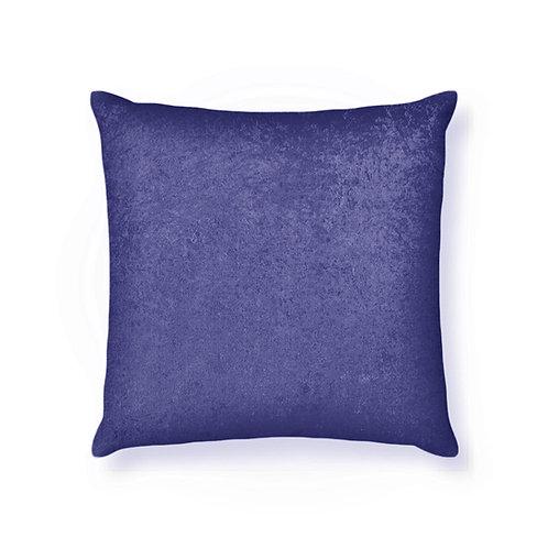 ESSENTIELE Velvet Cushion Cover 16X16 INCHES (Indigo Blue/Navy Blue) Pack of 1