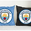 Thumbnail: ESSENTIELE MANCHESTER CITY FC CUSHION COVER 16*16 INCHES (SET OF 2)