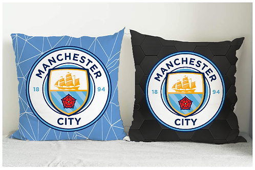ESSENTIELE MANCHESTER CITY FC CUSHION COVER 16*16 INCHES (SET OF 2)