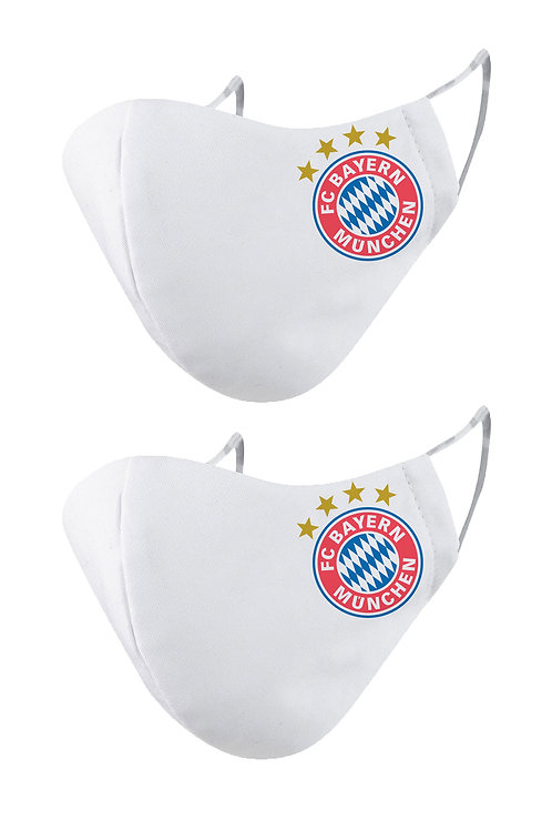 ESSENTIELE FC BAYERN OLD 2PLY REUSABLE FACE MASK (PACK OF 2)