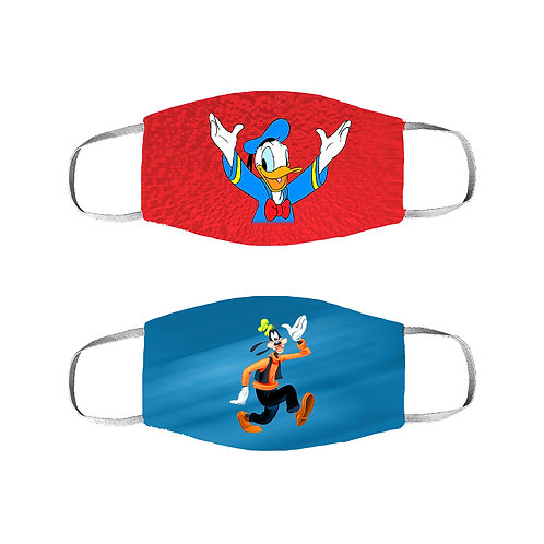 ESSENTIELE DONALD DUCK-GOOFY KIDS 2PLY REUSABLE FACE MASK (PACK OF 2)