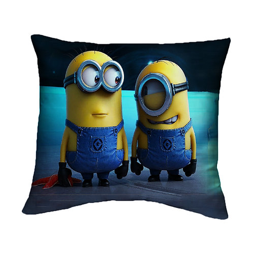 ESSENTIELE Kids MINION Cartoon Cushion Cover (16X16 INCHES)