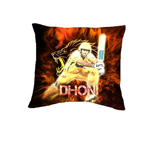 ESSENTIELE MS DHONI EDITION CUSHION COVER (16*16 INCHES)