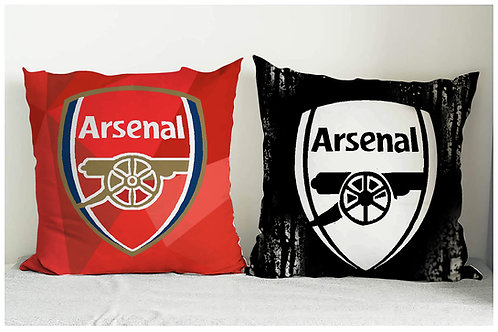 ESSENTIELE ARSENAL FC CUSHION COVER 16*16 INCHES (SET OF 2)