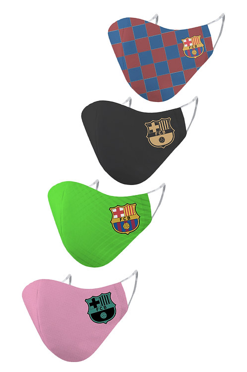 ESSENTIELE FC BARCELONA H/A/T/G KIT 20/21 2PLY REUSABLE FACE MASK (PACK OF 4)