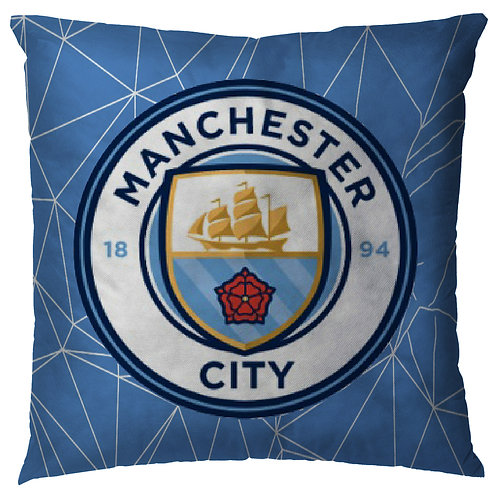 ESSENTIELE Manchester City FC Cushion Cover (16X16 INCHES)
