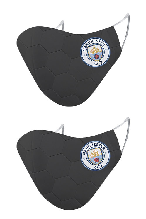 ESSENTIELE MANCHESTER CITY GK KIT 20/21 2PLY REUSABLE FACE MASK (PACK OF 2)