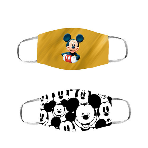 ESSENTIELE MICKEY MOUSE KIDS 2PLY REUSABLE FACE MASK (PACK OF 2)