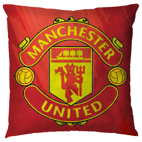 ESSENTIELE Manchester United FC Cushion Cover (16X16 INCHES)