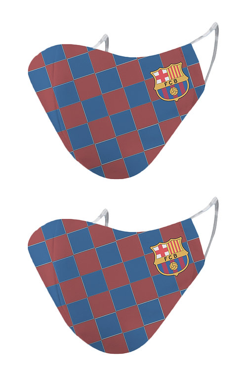 ESSENTIELE FC BARCELONA  HOME KIT 20/21 2PLY REUSABLE FACE MASK (PACK OF 2)