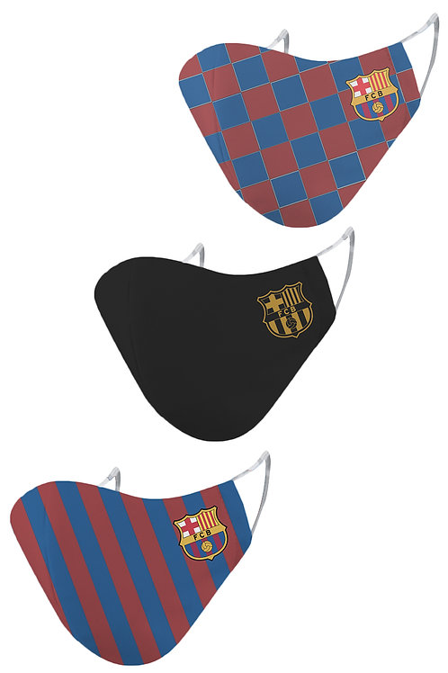 ESSENTIELE FC BARCELONA O/H/A REUSABLE FACE MASK (PACK OF 3)