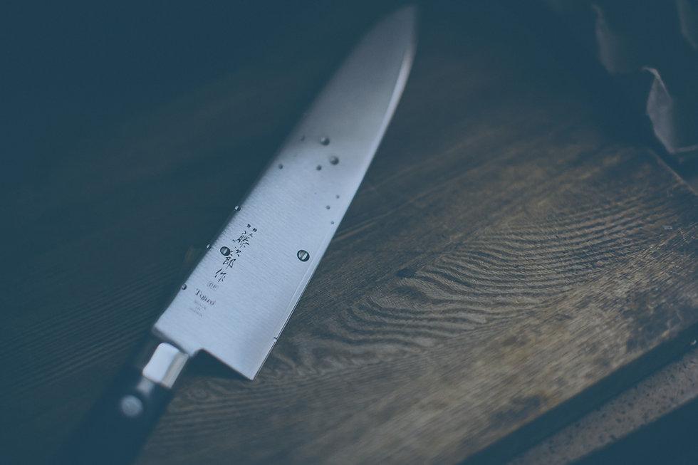 Messer als Hintergrund