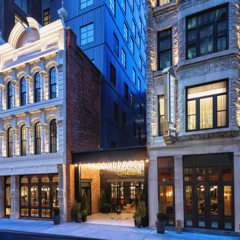 Dream Hotel - Dream Nashville reimagines two historic landmarked buildings steeped in a rich and colorful heritage while maintaining the celebrated history of Printer's Alley.