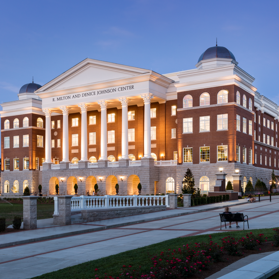 Johnson Center at Belmont University - The four-story Academic and Dining Services Center is the home of the dining services complex as well as additional classrooms and offices.