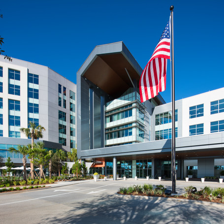 AdventHealth Apopka Hospital - The 320,000-square-foot hospital brings world-class care closer to home for residents of West Orange County, Florida with 120 private inpatient rooms, expanded surgical services, advanced surgical suites and a catheterization lab.