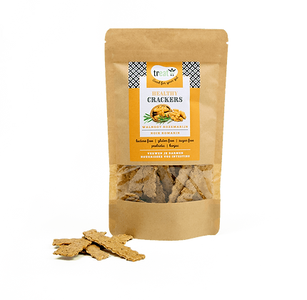 healthy crackers 'walnoot rozemarijn'