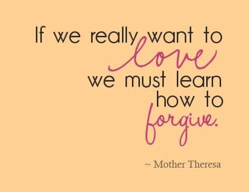 Forgiveness is Key